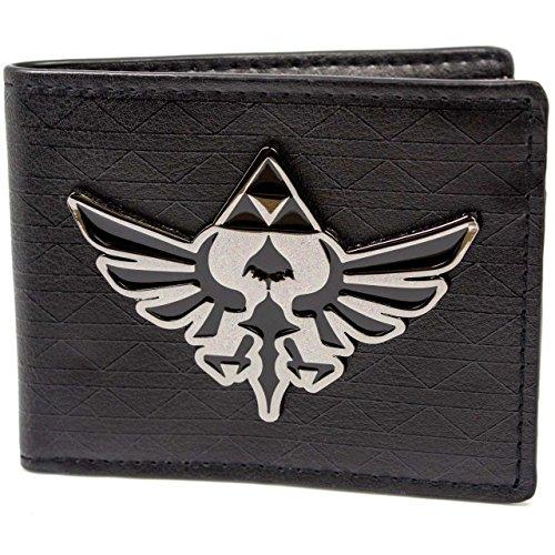 Cartera de Nintendo Zelda Triforce Badge Negro