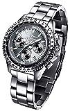 FIREFOX RACER FFS15-104 titangrau Herrenuhr Armbanduhr Chronograph massiv Edelstahl Sicherheitsfaltschließe 10 ATM Prüfdruck