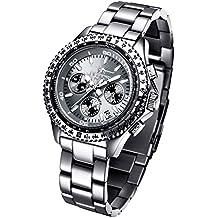 4dc5676a5dc7 Reloj FIREFOX CITIZEN RACER FFS15-104 de acero inoxidable Cronógrafo Gris  Titanio