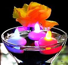 Idea Regalo - 12 Candele LED Galleggianti Colorate - Lumini a Batteria Cambia Colore per Piscina, Matrimonio, Bagno, Spa di PK Green