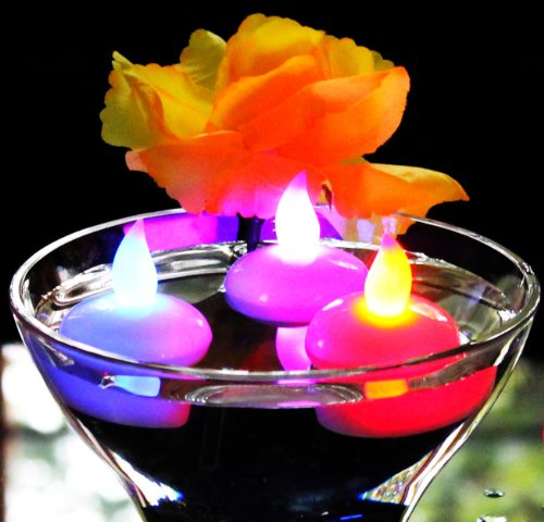 12-Battery-Floating-LED-Tea-Lights-Colour-Changing-Candles-for-Bath-Hot-Tub-Spa-Pool-Pond-Wedding-by-PK-Green