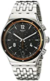 Swatch Herren-Armbanduhr Chronograph Quarz Edelstahl YVS419G