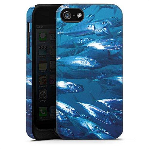 Apple iPhone X Silikon Hülle Case Schutzhülle Fisch Fische Fischschwarm Tough Case matt