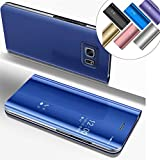 COTDINFOR Mirror Makeup Case For Samsung Note 5 Slim View Standing Cover Bright