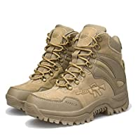 GDXH New Shoes,Mens Camouflage Mountaineering Boot High Rise Hiking Boots Jungle Trekking Shoes Desert Boots,A,41EU