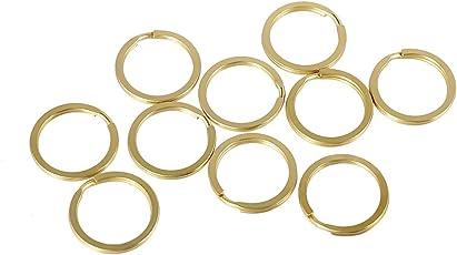 Aspiredeal 10pcs 20 mm Brass Split Key Rings Chain Bag Charms Clasp Loop Findings DIY
