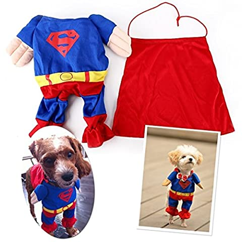 Costumes Puppy Dog Pour Adultes - EQLEF® Superman Cat Dog Puppy Halloween Costume