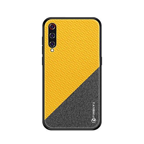 13peas Compatibile con Xiaomi Mi 9 Cover,Cover per Xiaomi Mi 9 Silicone TPU Tessuto [Anticaduta,Antiscivolo,AntiGraffio] Custodia per Xiaomi Mi 9 SE (Giallo, Xiaomi Mi 9)