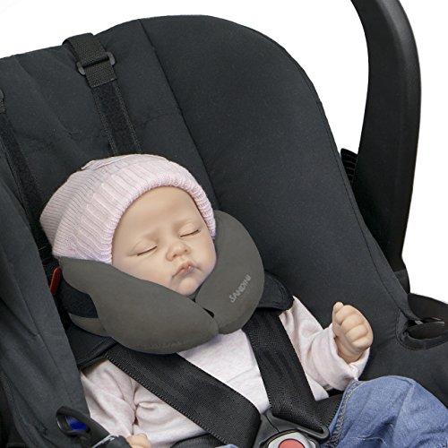 Preisvergleich Produktbild SANDINI SleepFix Baby – Baby Schlafkissen/Nackenkissen mit Stützfunktion – Kindersitz-Zubehör für Auto/Fahrrad/ Reise – Kopfstütze/Sitzverkleinerung/ Verhindert das Abkippen des Kopfes im Schlaf