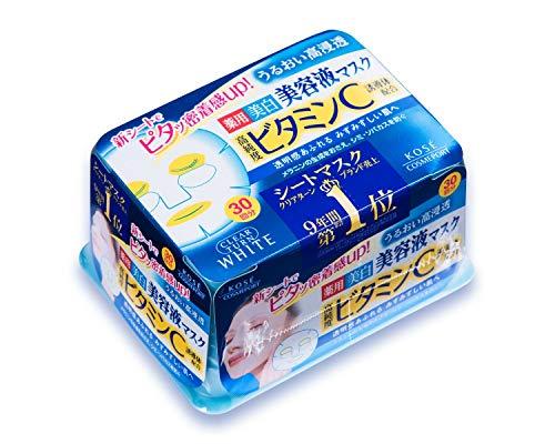 Kose Clear Turn Essence Facial Mask White - 30 masks (japan import)