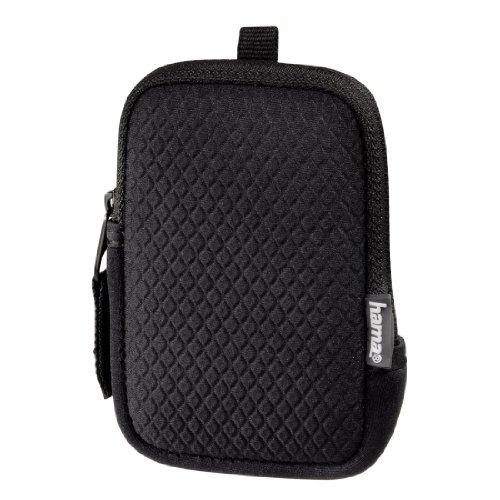 Hama Neopren Kameratasche für eine kleine Digitalkamera, Fancy Neopren Rhomb 50E, Schwarz
