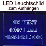 LED Leuchtschild Werbeschild 50x40cm -IHR MOTIV- Wandbild