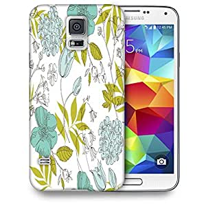 Snoogg Colorful Leaves Printed Protective Phone Back Case Cover For Samsung S5 / S IIIII