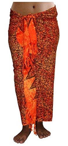 ca.100 Modelle im Shop Sarong Strandtuch Pareo Wickelrock orange braun Sar20