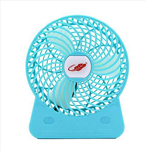 Xiao Jian- Tragbarer Multifunktionsventilator 4-Gang 6-Zoll-Mini-Ventilator Kleiner Fan-Schüler Kleiner Desktop-USB-Lüfter Optionale Farbe (173 * 145 * 48mm) Elektrischer Ventilator (Farbe : Blau)