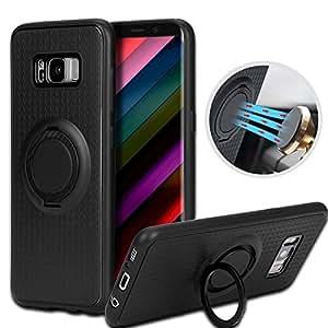 Bumper Case Samsung Galaxy S8, tronisky S8 Coque with Magnétique Voiture Mount Résistante