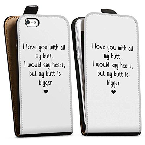 Apple iPhone X Silikon Hülle Case Schutzhülle Liebe Lustig Statement Downflip Tasche schwarz