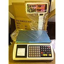 balanza bascula con ticket programable con torre y 1000 plus