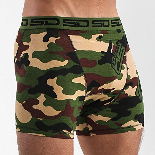 Smuggling Duds Boxer-Shorts Jungle Camo Grun-schwarz Grau