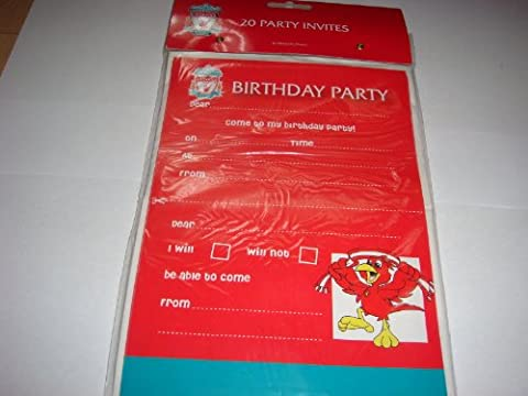 Amscan Liverpool FC Invites, Pack of 20