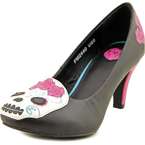 T.U.K. Day of the Dead Heels Donna Scarpe tacchi Taglia Nuovo Black