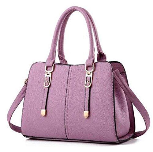 Grande Borsa A Tracolla Minimalista Moda Borsa Signora Della Borsa Del Regalo Di Messenger Bag Di Natale Purple