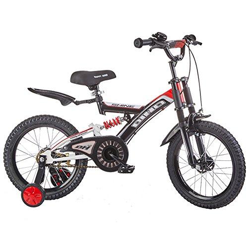 YIXINY Kinderfahrräder LB1697 Kinderfahrrad Kinder Fahrräder 2-10 Jahre alt-14/16 Zoll Double Shock Absorption Doppel Bremsen Kinder Fahrrad ( Farbe : 002 , größe : 14inch ) Doppel-kinderwagen Abnehmbare