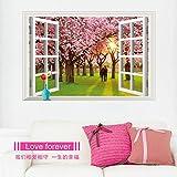 Diy Home Decor Glück Liebhaber Unter Der Kirschblüte Bäume Dekoration Wandaufkleber Decoracion Hogar