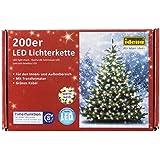 Idena 8325066 Guirlande lumineuse 200 LED Extérieur Lumière blanche chaude
