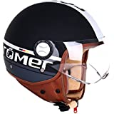 Römer Helmets Casque de Moto Fight, Noir Mat/Argenté, L