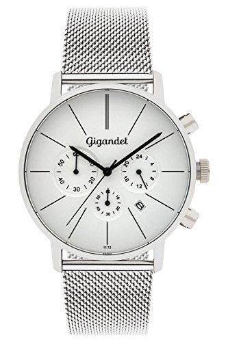 Gigandet G32-005 Herren Armbanduhr, Edelstahl-Armband silberfarben