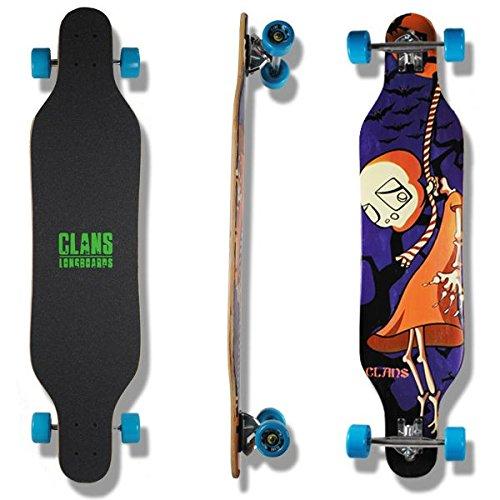 Clans Beginner Longboard Freeride Cruiser Complete Spectre 41.0 x 9.5 inch LB-C-070