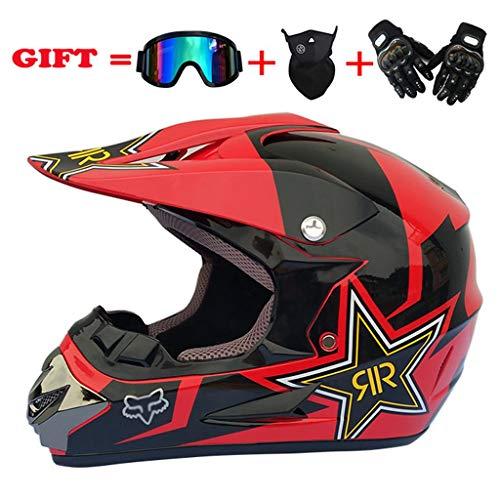 XSWE Profi-MotorcrossHelm Off Road Helmet Racing Downhill Racing Helmet Cross Helmet Motocross/ATV/Off-Road/Endurance Race Size: S-XL,L