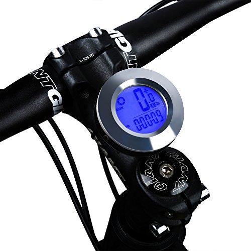 Fahrradcomputer, Radfahren Kilometerzähler-Geschwindigkeitsmesser für Fahrrad,wasserdichter automatischer mit LCDHintergrundbeleuchtungs-Abstand Avs-Geschwindigkeit