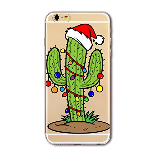iPhone 6S Plus Custodia Silicone,iPhone 6S Plus Cover Xmas,TPU Gel Protettivo Shell Case Cover per 5.5 Apple iPhone 6 Plus/iPhone 6S Plus Merry Christmas Natale Slim Sottile Crystal Clear Silicone Mo Xmas 08