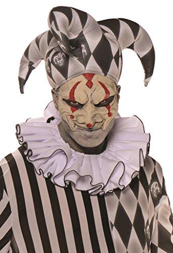 Horror-Harlekin Halloween-Kostüm Psycho-Clown schwarz-weiss M / (Kragen Kostüme Harlekin)