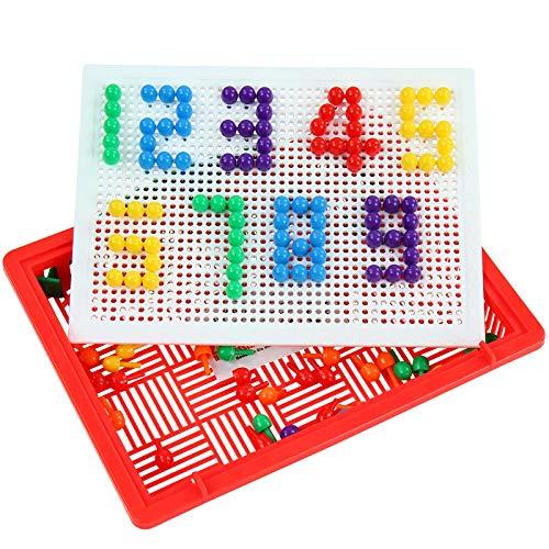 Juego para crear figuras y mosaicos (incluye 150 piezas y maletín) Mosaicos multicolores, flores, animales, vehículos... con este bonito tablero se pueden crear dibujos maravillosos. Viene con 150 botones clavijas en 6 colores diferentes que se puede...