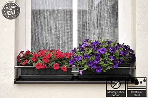 Dastech Blumenkastenhalterung Spreizvariante bis 1200 mm Rostfreier Stah V2A