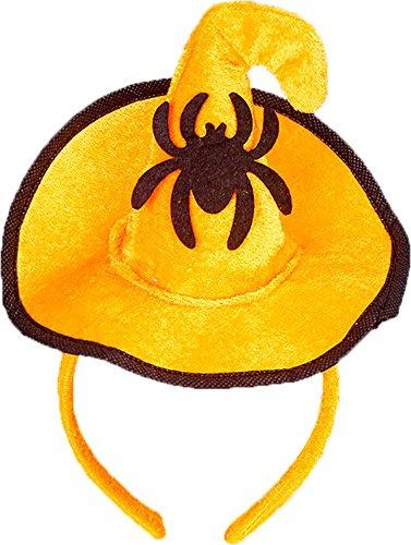 Ababalaya Halloween Stirnband Hexe Hut Haarband Kopfschmuck für Kinder Halloween Kostüm Party (Prop Hut Spinnen Geist Mit)