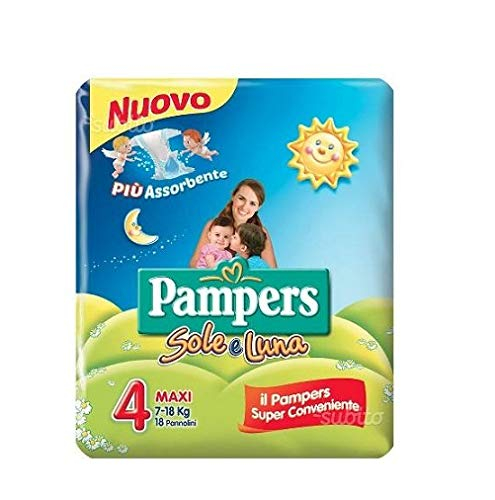 Pampers sole e luna Gr.4 18 Windeln 7-18 kg kinder baby diapers Packung