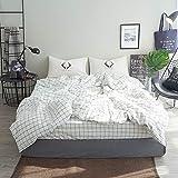 Kexinfan Bettbezug Mix und Waschen Baumwolle Vierteilige Anzug Bettlaken Bett 笠 Baumwolle Bettwäsche, Bett, D, 1,2 M (4 Fuß) Bett