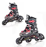 Raven 2in1 Kinder Inline Skates Triskates Winner Black/Red Größe: 26-29 (16,5cm - 18cm)