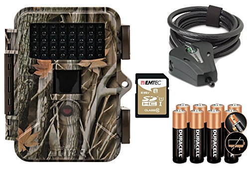 Wildkamera DÖRR SnapShot MINI 5.0 black 12MP HD Fotofalle Premium Set mit MasterLock Kabelschloss