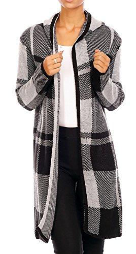 Fashion -  Cardigan  - Donna Nero/Grigio