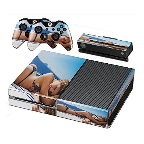Babes 10013, Designfolie Sticker Skin Aufkleber Schutzfolie mit Farbenfrohem Design für Xbox - Zumba Xbox One