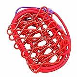 Tragbare Kleidung Pin 12 Metallklammern Faltbare Stretchable Wäscheleine-Rot
