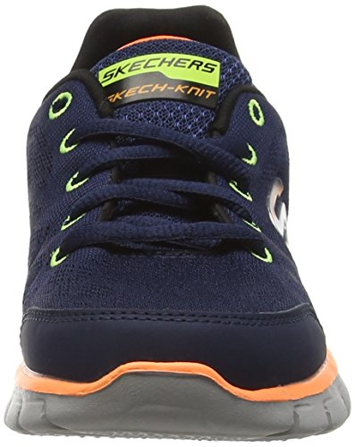 Skechers Mädchen Synergy-Fine Tune Sneakers Blau (Marineblau/Orange)