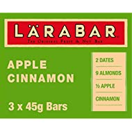LÄRABAR Apple Cinnamon Fruit and Nut Bar, 3 x 45 g