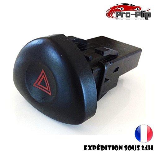 Bouton Warning Noir Feux DE DETRESSE Renault Clio 2 @Pro-Plip