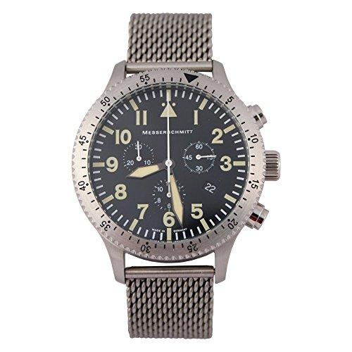 Messerschmitt Chronograph Herren Flieger Armbanduhr ME-5030MVintage